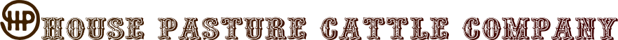 House Pasture Cattle Company Logo